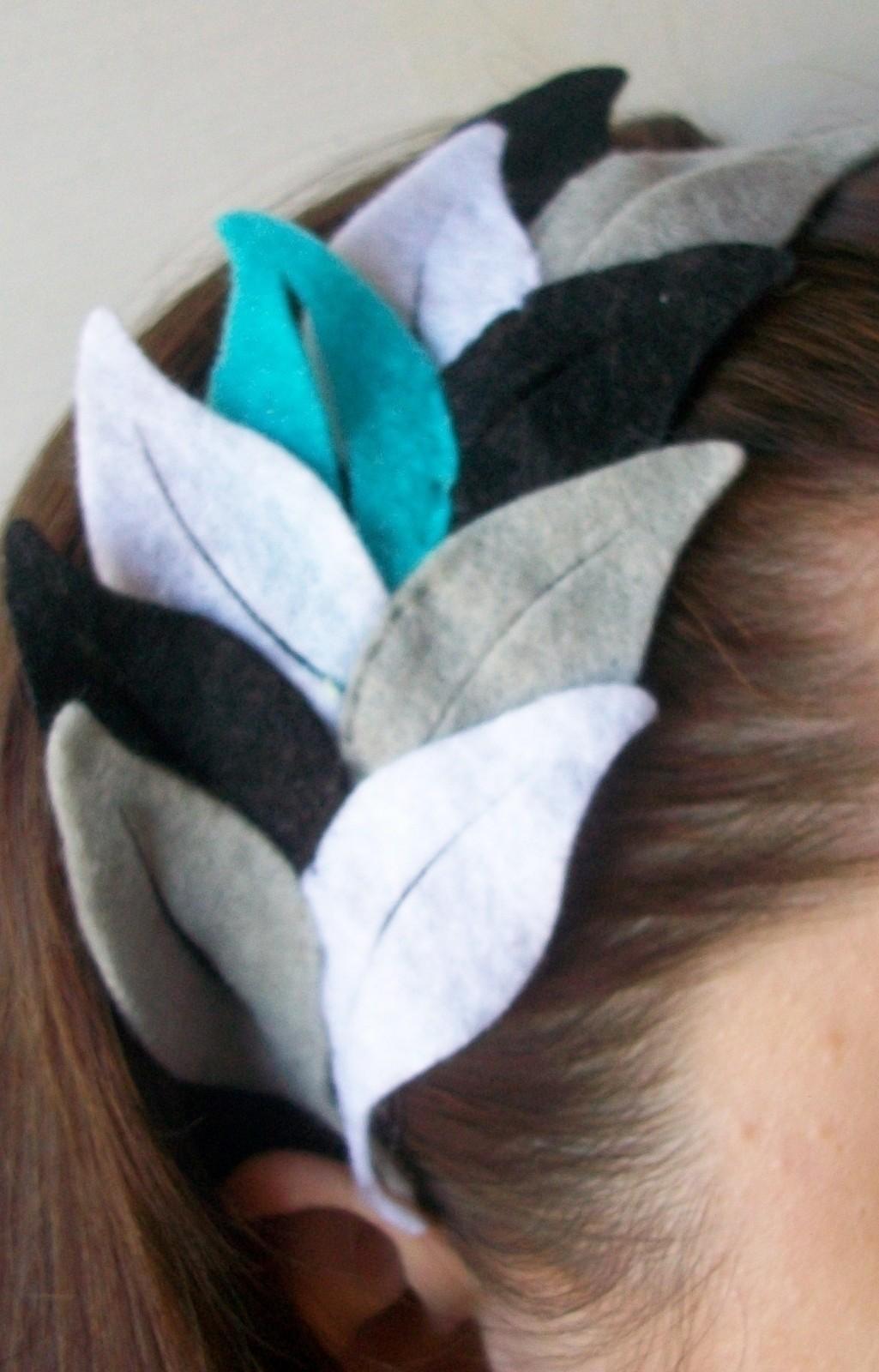 Felt Feather Headband A Feather Headband Hair Styling