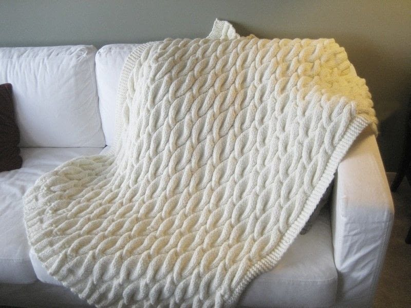 Cabled Blanket A Knit Or Crochet Blanket Knitting On
