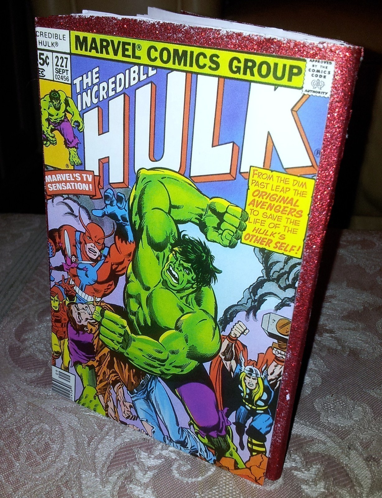 Comic Book Notebook A Recycled Book Decorating