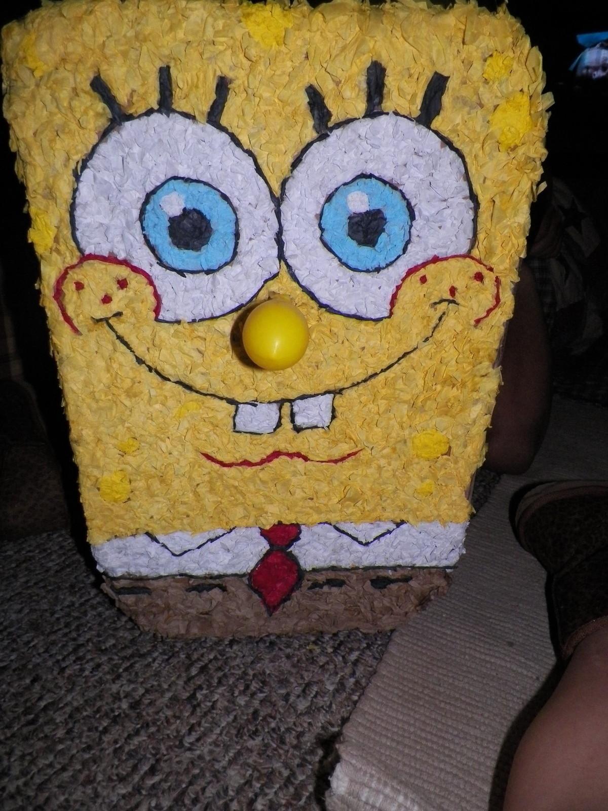Spongebob Pinata A Piata Construction And Papercraft On Cut Out Keep