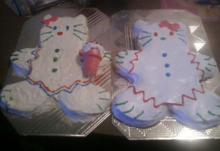 Hello Kitty Cakes In Gingerbread Man Pans An Animal Cake Food
