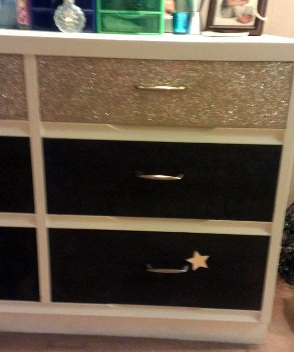 Glitter Dresser A Drawer Decorating On Cut Out