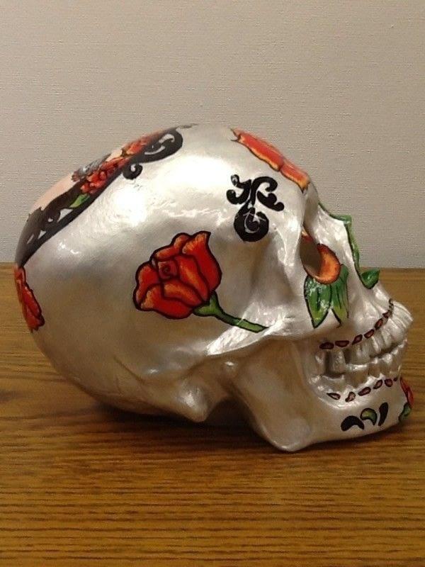 Dia De Los Muertos Art Skull A Skull Art Drawing And Decorating On Cut Out Keep