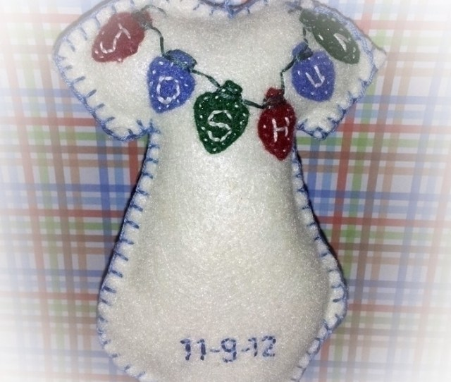 Babys First Christmas Felt Ornament Next Prev What New Mom Wouldnt Love This Sweet Handmade Custom Ornament For Babys