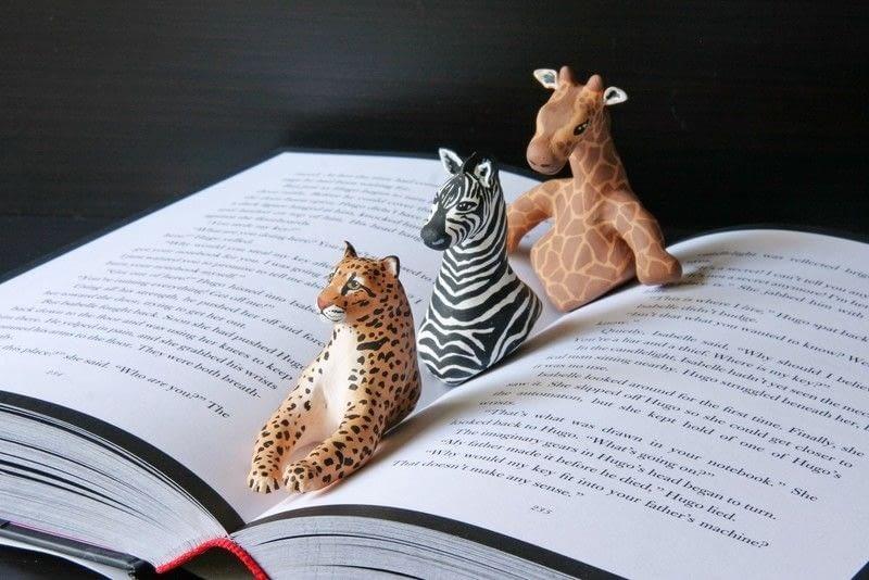 Giraffe Book Page Holder 183 A Clay Bookmark 183 Art On Cut