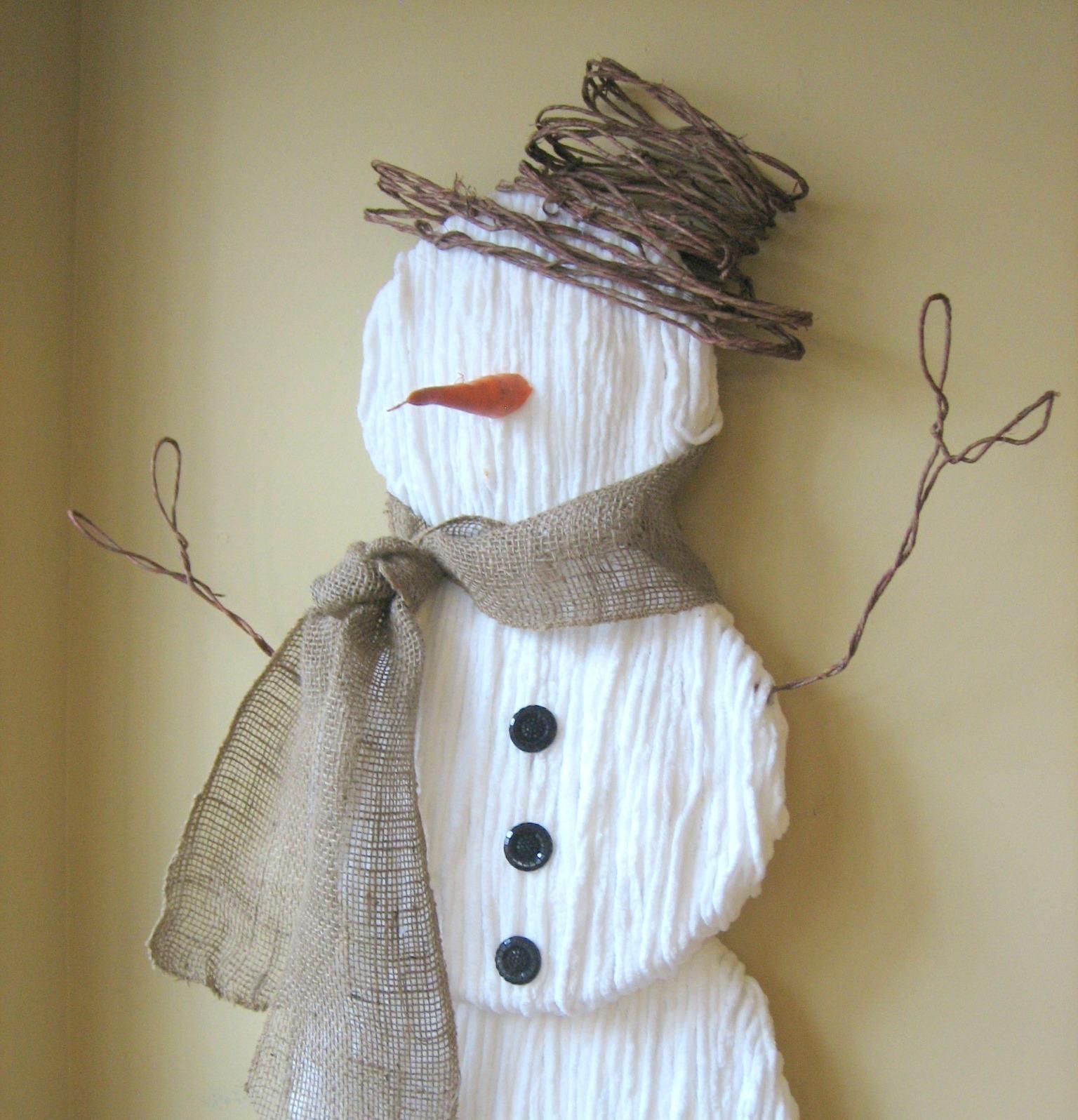 Cute Yarn Snowman How To Make A Snowman Ornament