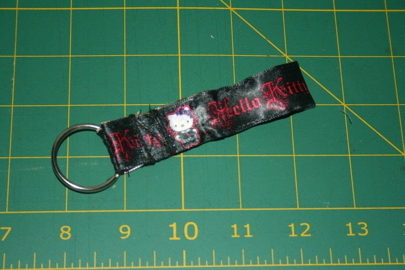 Sew A Fabric Backed Ribbon Lanyard And Keychain How To