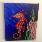 Seahorse Painting How To Draw Paint A Piece Of Animal Art Art And Drawing On Cut Out Keep