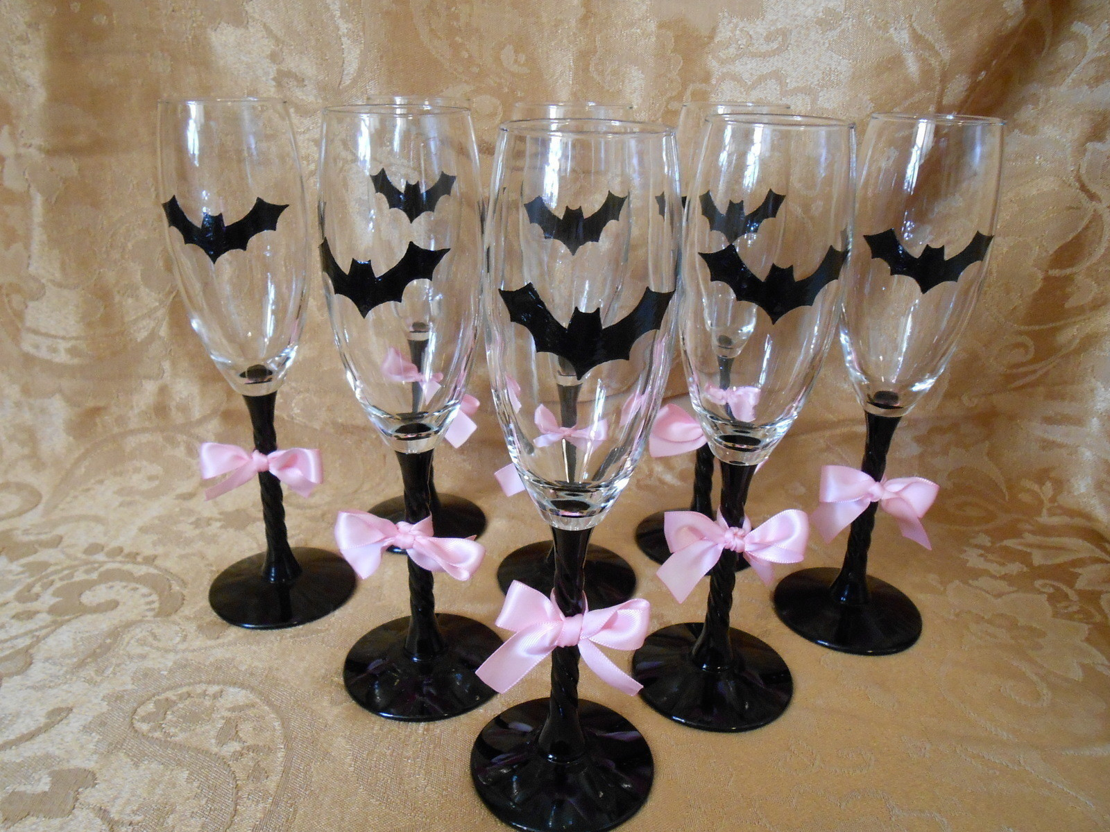 Bats N Bows Wine Glasses How To Make A Glass