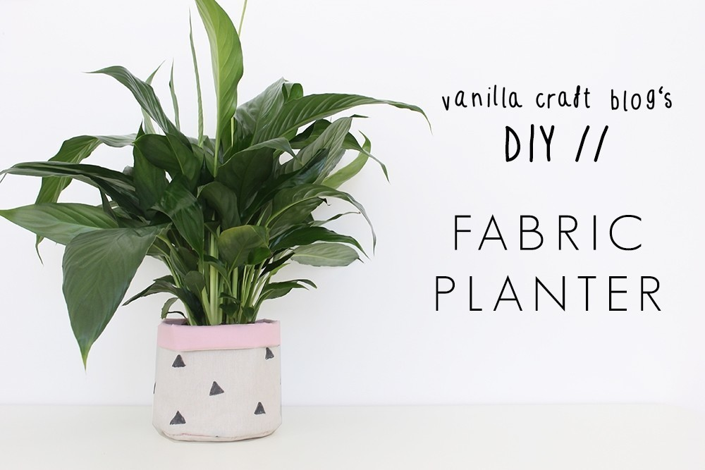 Diy Fabric Planters How To Sew A Fabric Planter Sewing