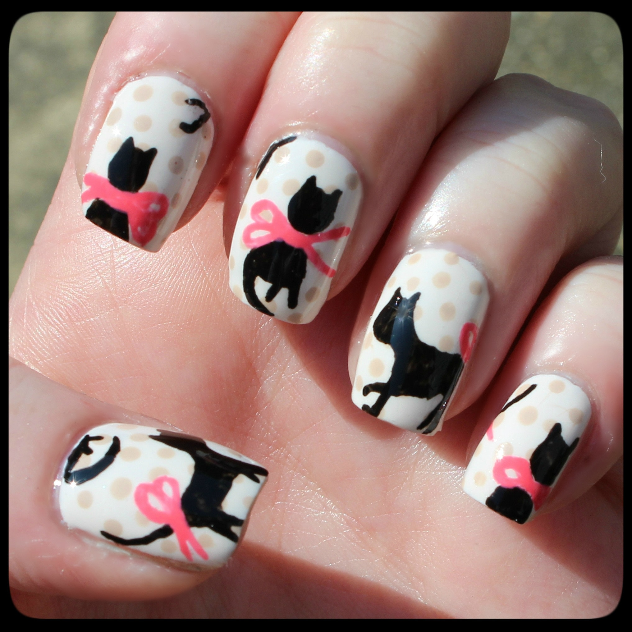 Cat Blouse Nail Art How To Paint An Animal Beauty On Cut Out Keep