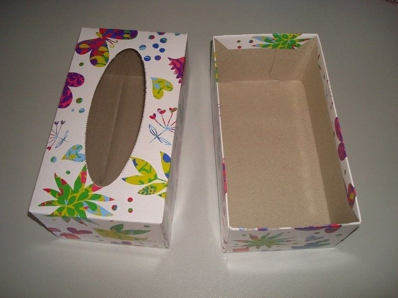 Tissue Box Craft Storage How To Make A Recycled Box
