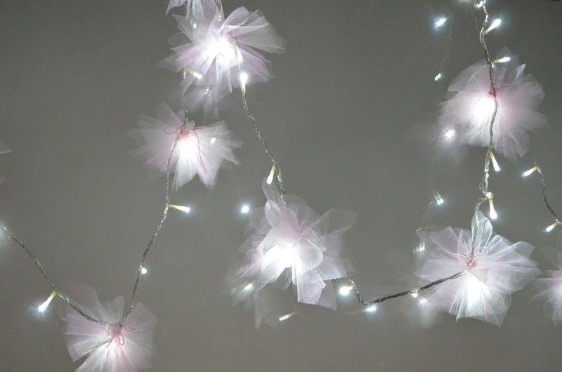Diy Tulle Flower Fairy Lights How To Make Fairy Lights
