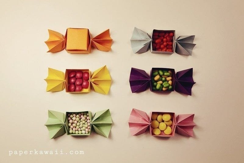 Origami Candy Shaped Box Tutorial How To Fold An Origami
