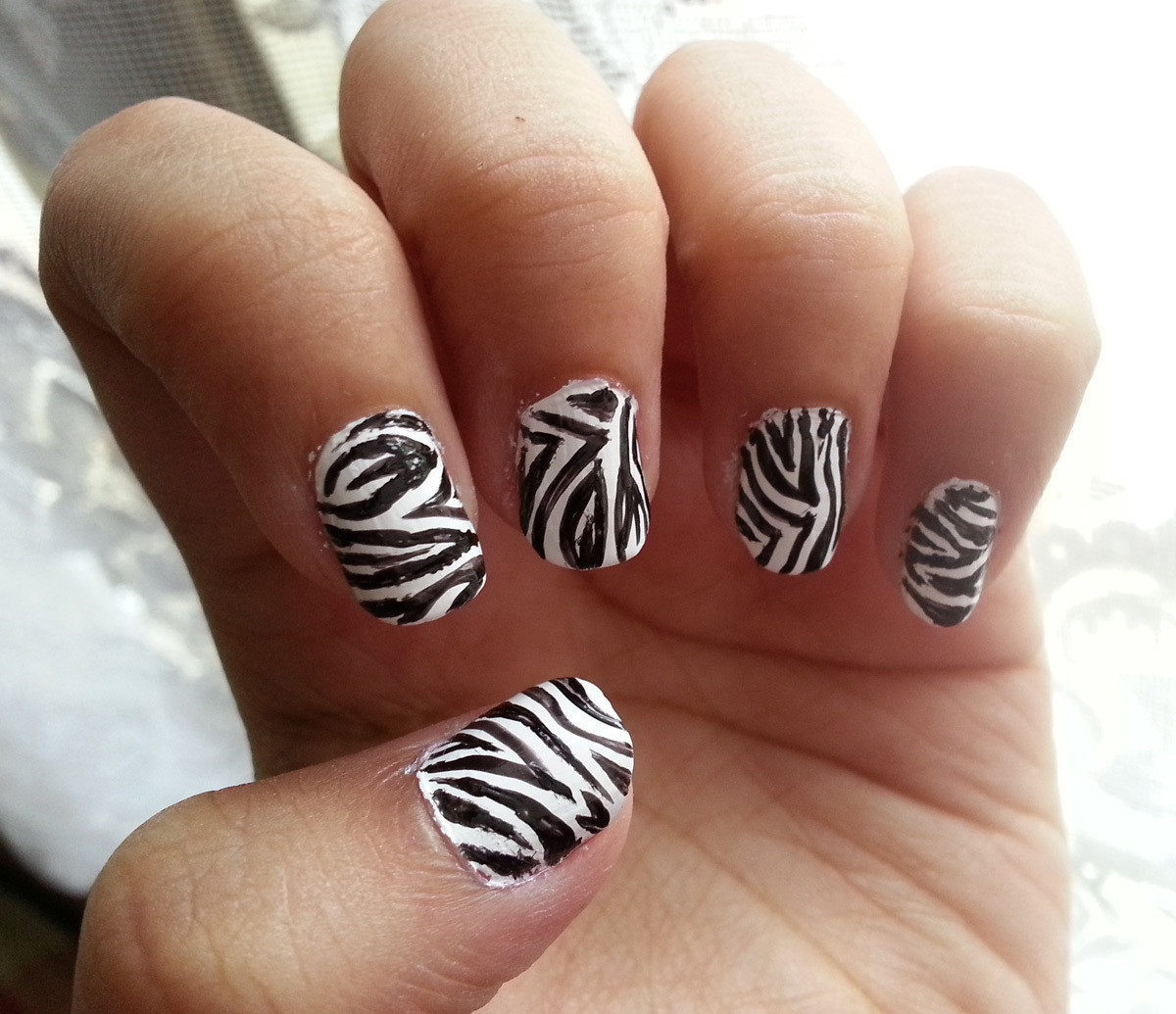 Zebra Stripe Nail Art How To Paint An Animal Print Beauty On Cut Out Keep