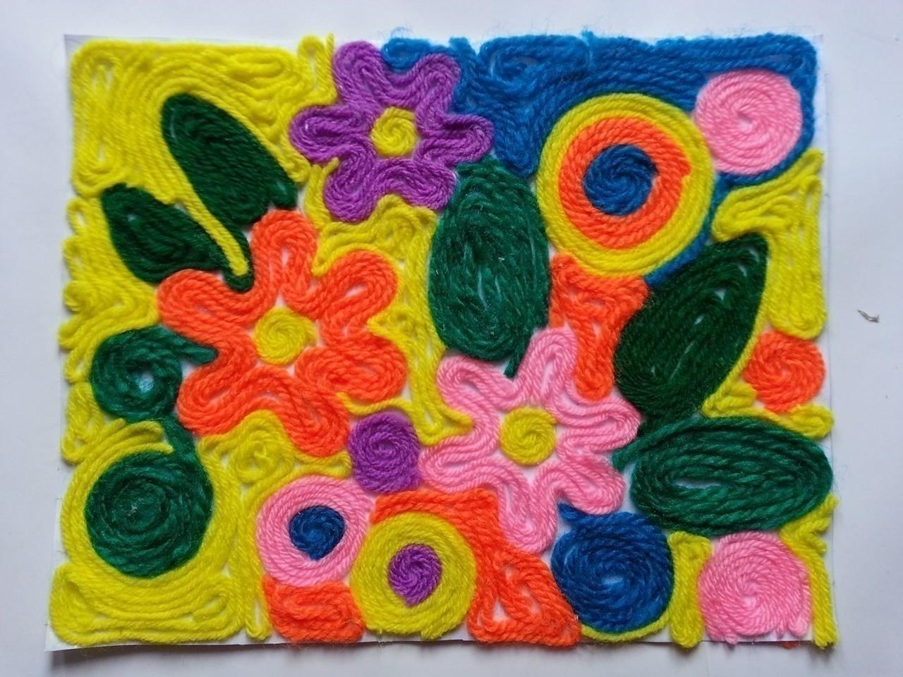 Diy Flower Yarn Art How To Create Art A Model Art On