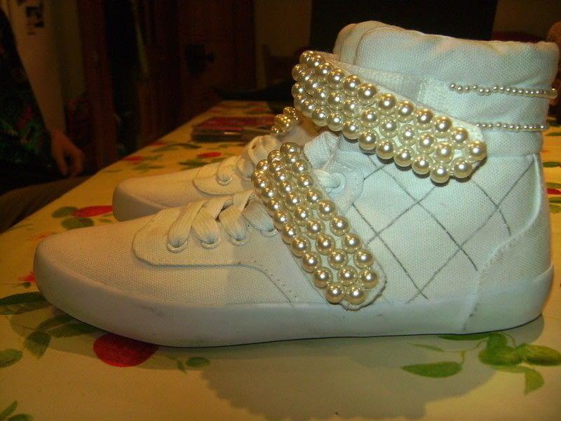 Hi Top Ghetto Chanel Tribute Shoes 183 A Shoe 183 Embellishing