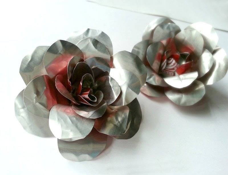 Diy Recycled Metal Flower How To Make A Recycled Model