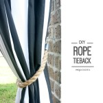 Diy Rope Tiebacks How To Make A Set Of Curtain Tie Backs Home Diy On Cut Out Keep