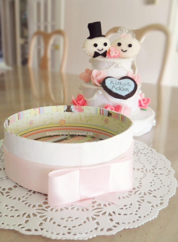 Felt Wedding Cake Gift Box 183 How To Make A Decoration 183 Needlework On Cut Out Keep