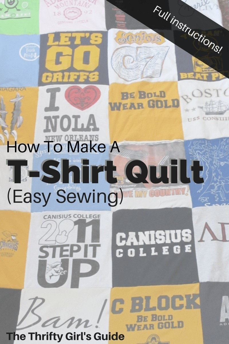 T Shirt Rag Quilt Instructions