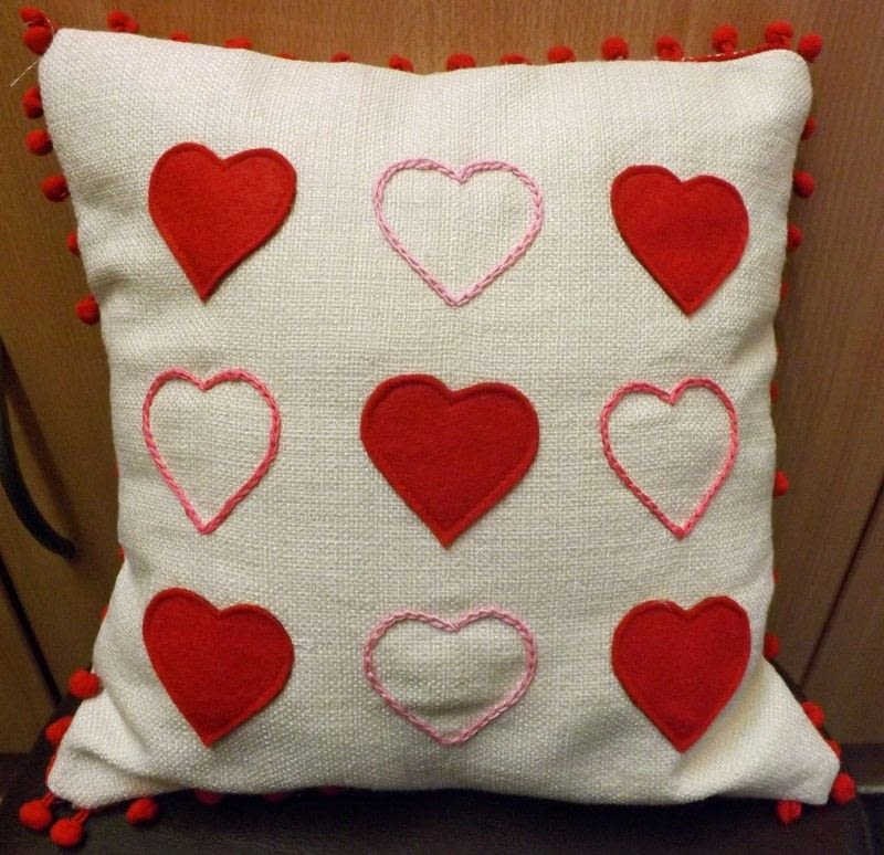 Love Heart Cushion How To Make A Cushion Sewing On Cut