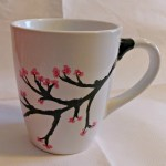 Cherry Blossom Hand Painted Mug How To Make A Cup Mug Home Diy On Cut Out Keep