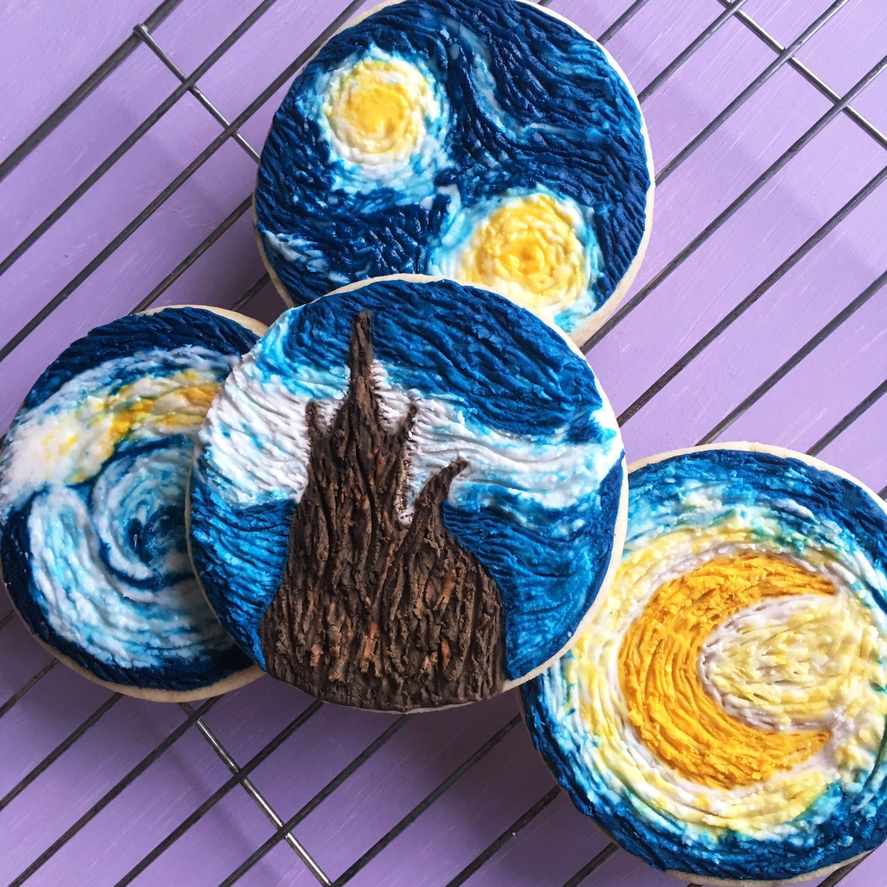 How To Make Starry Night Inspired Cookies How To Make