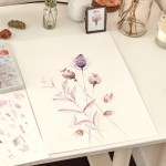 Watercolour Dried Flowers Extract From Watercolour Plant Art By Nikki Strange How To Paint A Piece Of Watercolor Art