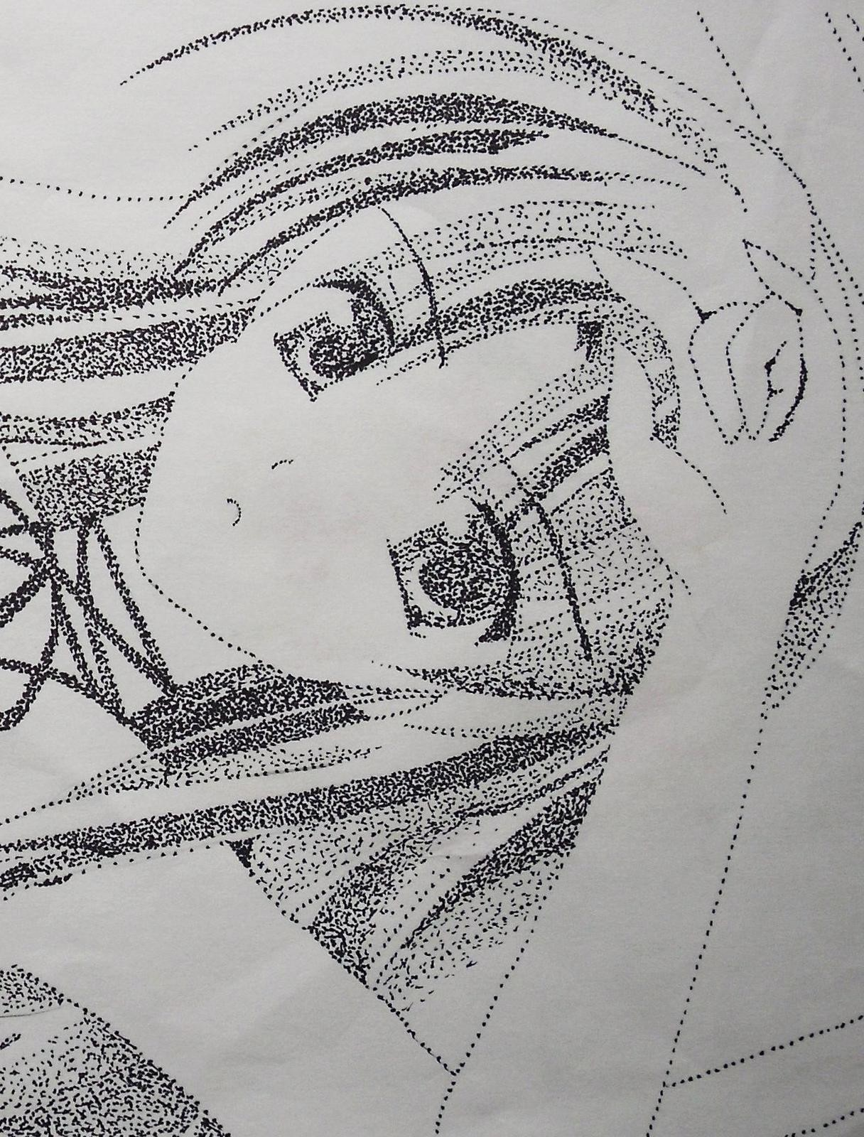 Another Pointillism Drawing A Manga Drawing Drawing On Cut Out Keep