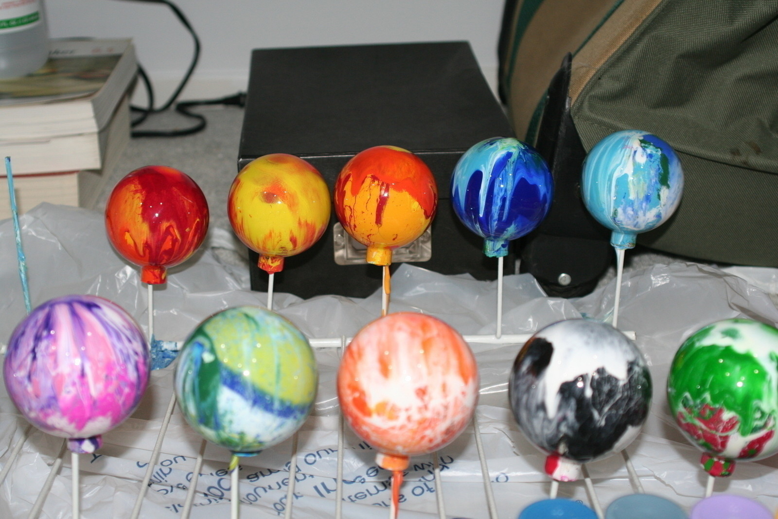Marblized Glass Christmas Ornaments How To Make A Bauble