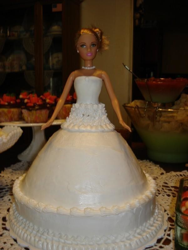 Bridal Shower Barbie Cake A Doll Cake Food Decoration