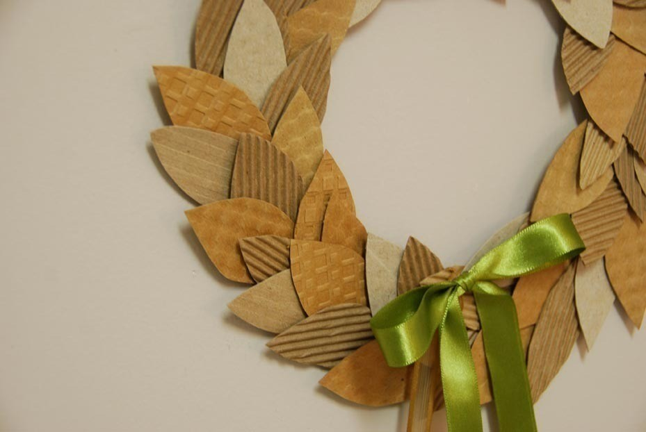 Coffee Cardboard Recycled Wreath How To Make A Paper