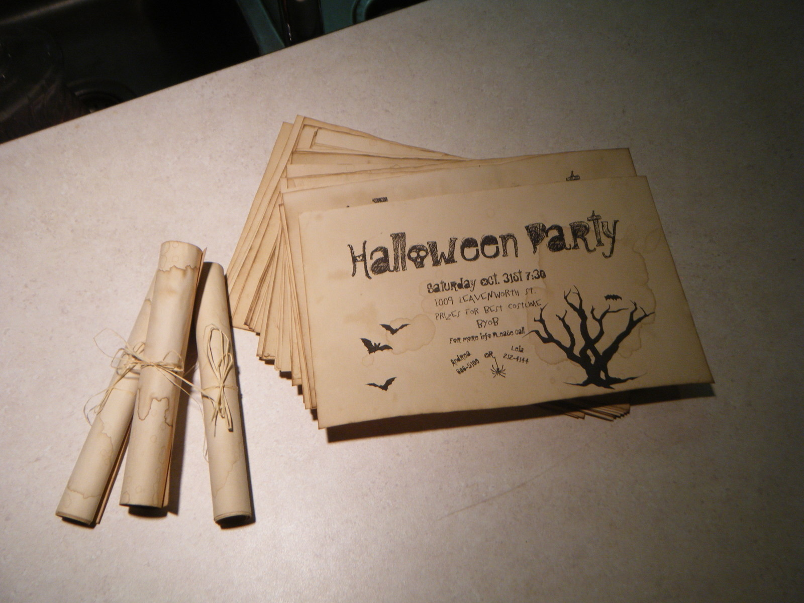 halloween party invites how to make