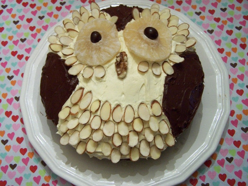 Owl Cake An Animal Cake Decorating And Cake Decorating