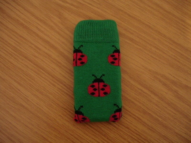Ladybird Phone Sock A Sock Pouch Sewing On Cut Out