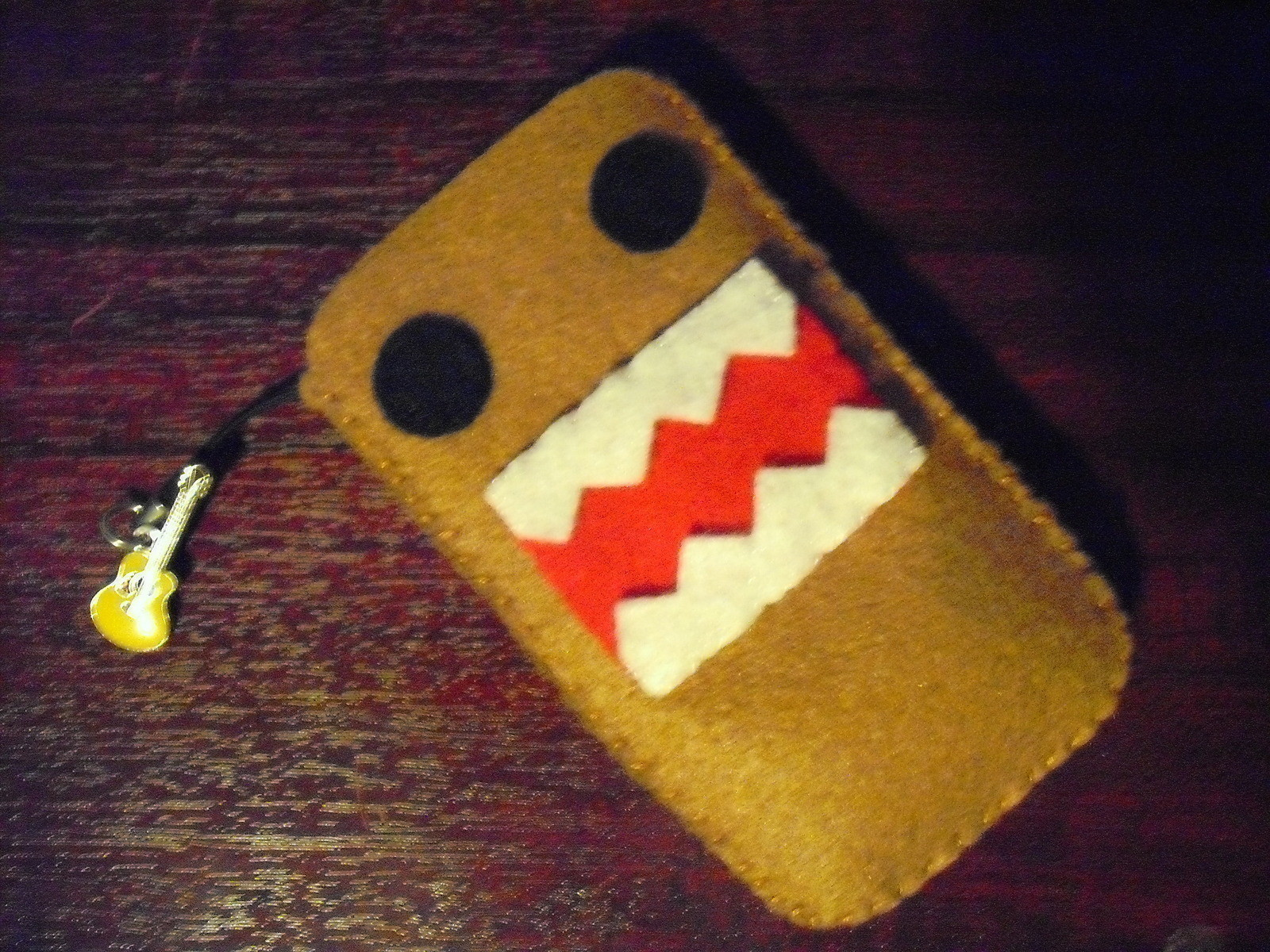Domo Kun Phone Sock A Fabric Character Pouch Sewing On
