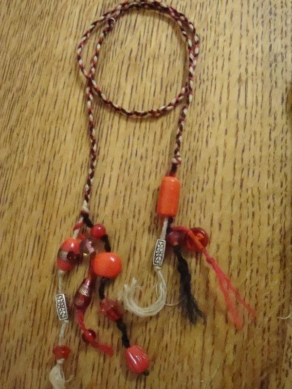 BraidedCrochet Beaded Bookmarks Necklace Bracelet Combo