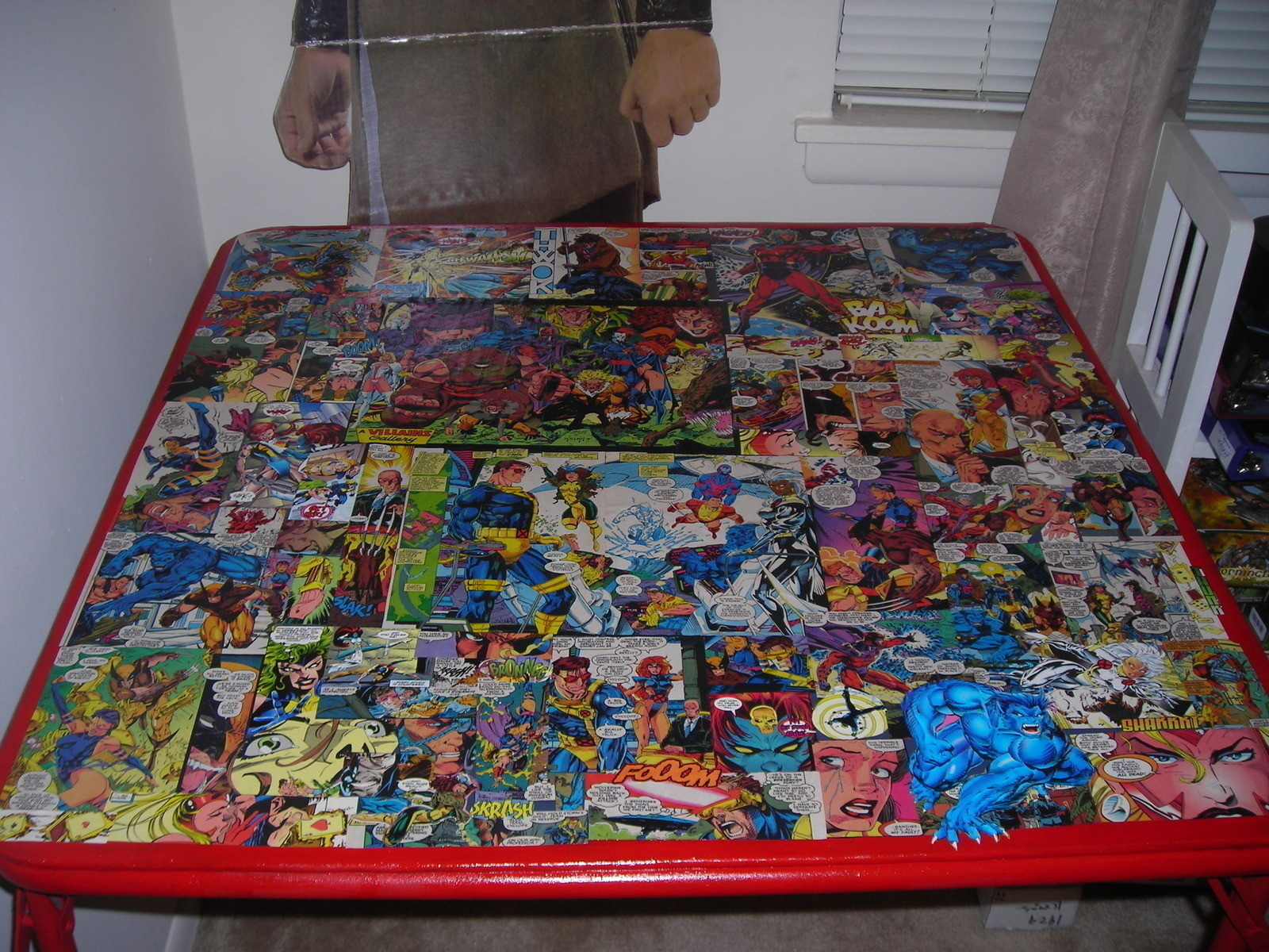 Comic Book Table A Table Decorating And Decoupage On