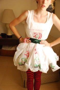 Dress O Plastic Bags A Plastic Bag Dress Dressmaking On Cut Out Keep