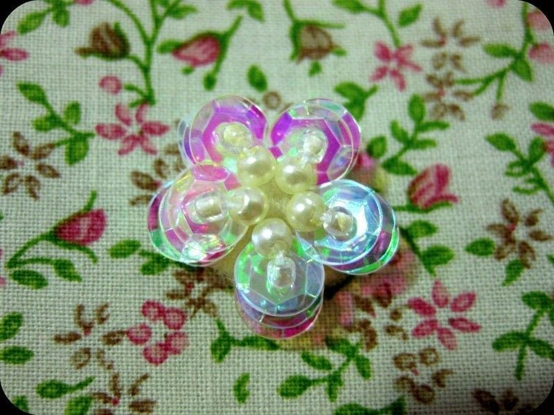 Diy Sequin Flower Hairpin How To Make A Pin Slide Beadwork And Jewelry Making On Cut Out