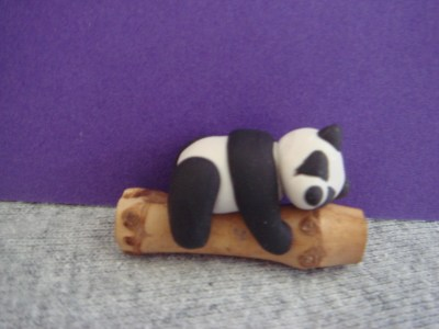 Cute Panda · A Clay Panda · Molding on Cut Out + Keep
