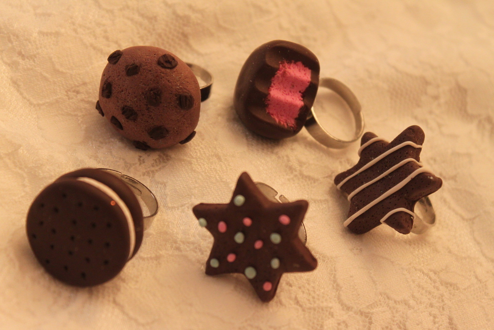 Delicious Looking Fimo Clay Rings 183 A Clay Ring 183 Jewelry
