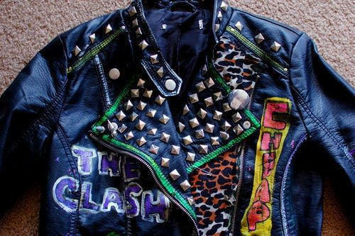 Diy New 80s Punk Jacket 183 How To Decorate A Leather Jacket