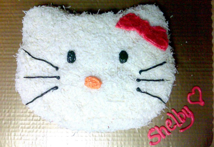 Hello Kitty Coconut Cake An Animal Cake Food Decoration And Cake
