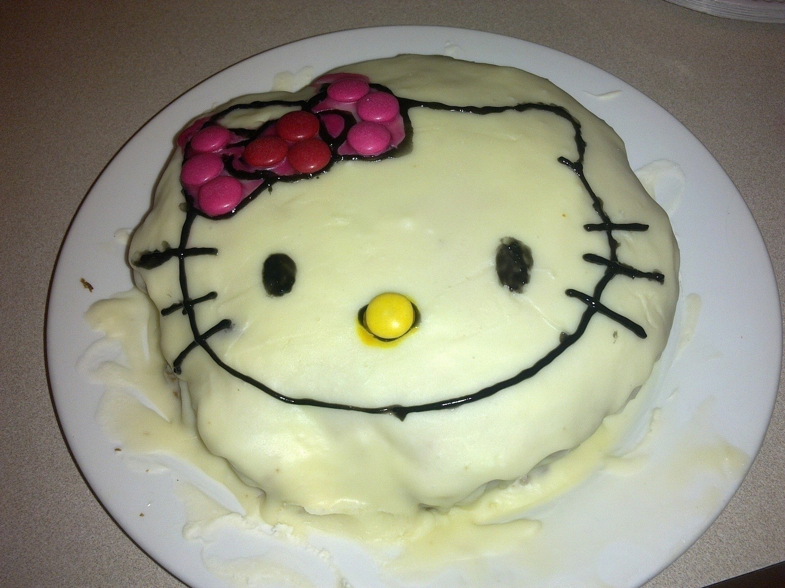 Hello Kitty Cake An Animal Cake Food Decoration And