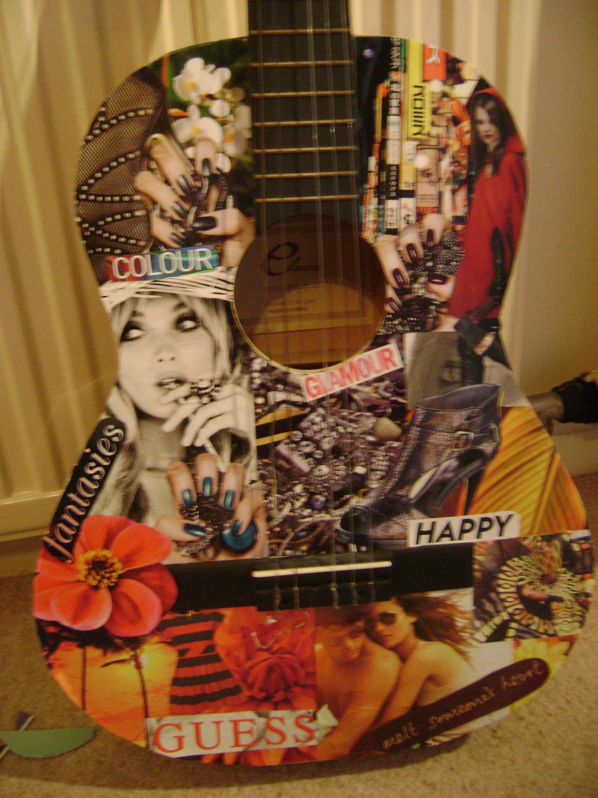 Collage Guitar 183 How To Make A Guitar 183 Decorating And