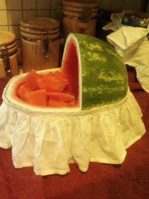 Watermelon Bassinet 183 A Fruit Dessert 183 Food Decoration