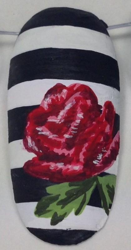 Vine Rose Nail Art Tutorial Ideas
