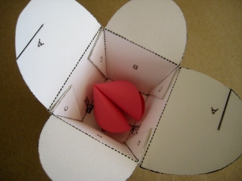 Valentines Day Paper Fortune Cookies How To Make A